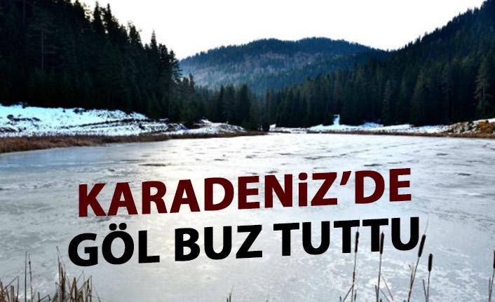 Karadeniz'de göl buz tuttu!