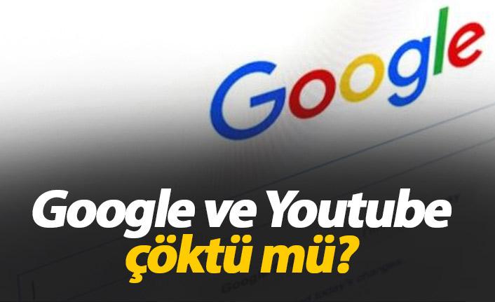 Youtube neden çalışmıyor? Google ve Youtube çöktü mü?