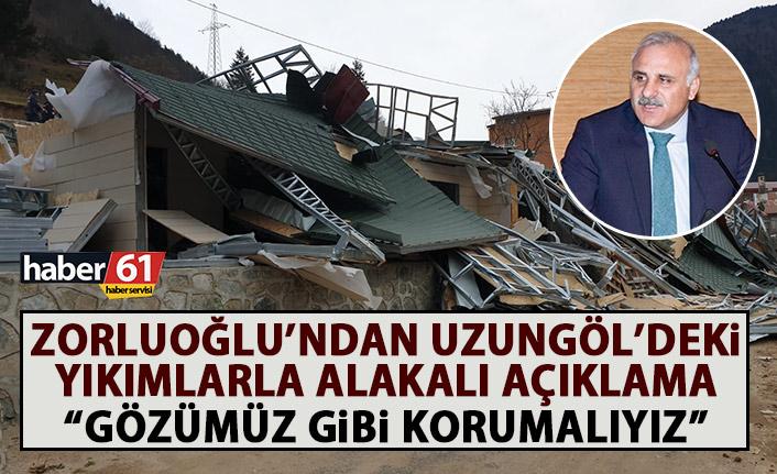 Başkan Murat Zorluoğlu'ndan Uzungöl açıklaması: Orayı gözümüz gibi korumalıyız