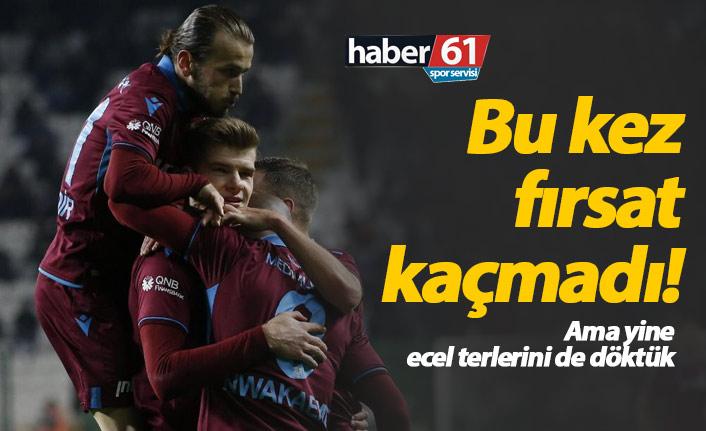 Trabzonspor Konya'yı yendi fırsatı kaçırmadı
