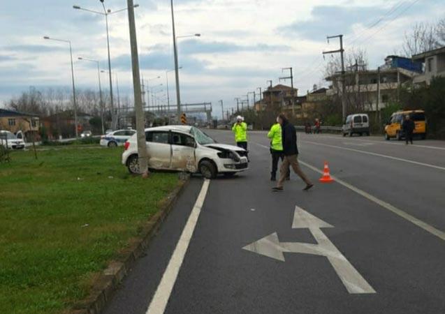 Karadeniz Sahil Yolunda kaza - 1 yaralı