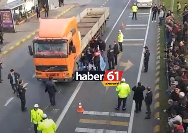 Akçaabat'ta feci kaza: Tır kadını ezip geçti…