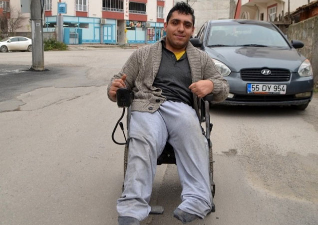 Çalınan akülü engelli aracı bulundu