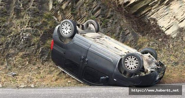 Araklı'da feci kaza! Aşırı hız sonu oluyordu!