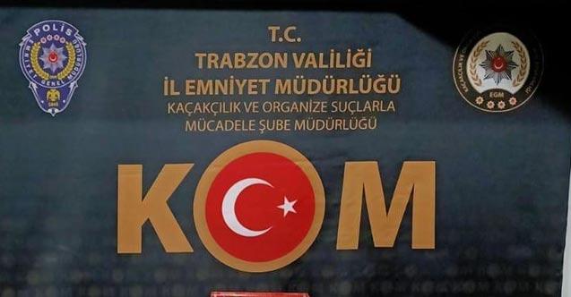 Trabzon'da durdurulan iki araçta ele geçirildi