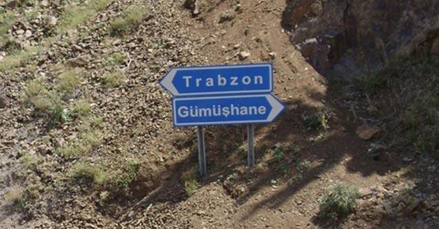 Trabzon - Gümüşhane yolunda çalışma