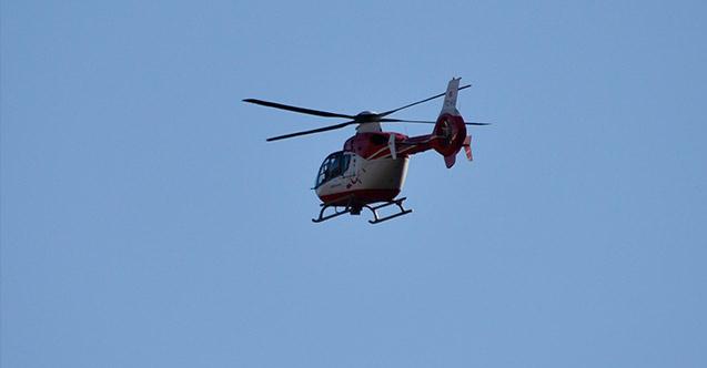 Rize'de Ambulans helikopter onun için havalandı