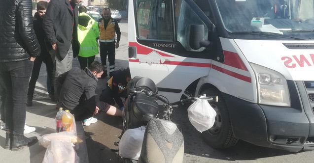 Cip ile elektrikli bisiklet çarpıştı: 1 yaralı