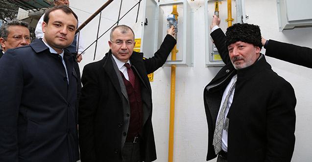 Artvin'de konutlara ilk doğal gaz verildi