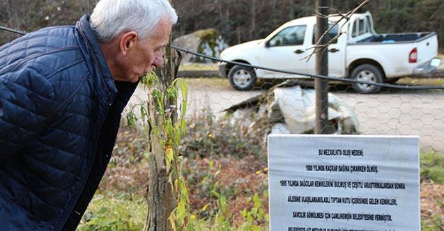 Adliyeden aldığı kemikleri kendi mezarlığına defnetti şimdi ailesini arıyor