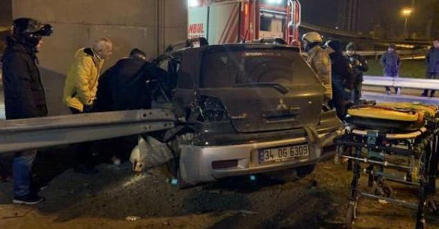 14 yaşındaki sürücü kaza yaptı, bacağı koptu!