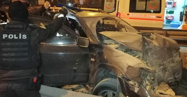 Aracı Kaçırdı Kaza yapınca bacağı koptu
