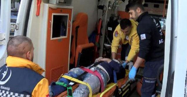 Bakırköy'de sıva yapan işçi iskeleden düştü