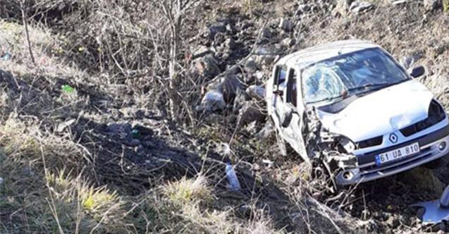 Trabzon'da kaza ucuz atlatıldı!