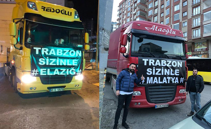 Trabzon'dan Elazığ ve Malatya'ya yardım eli