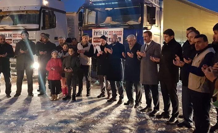 Bitlis'ten İdlib'e yardım eli