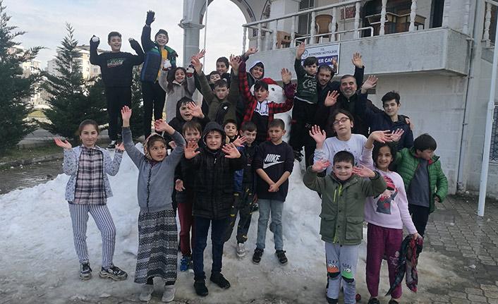 Belediye başkanından çocuklara 'kar' jesti