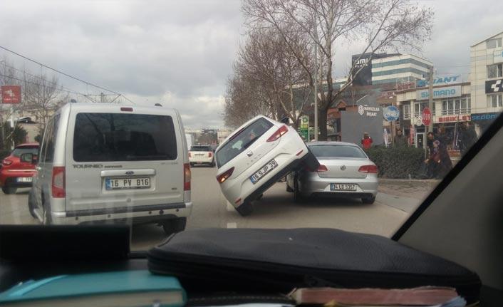 Bursa'da ilginç kaza
