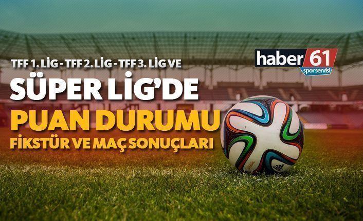 Süper Lig haftanın programı - Süper Lig puan durumu