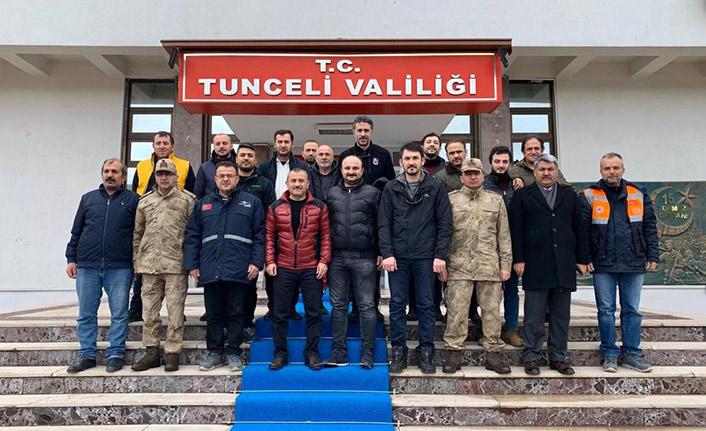 Trabzon ekibi Elazığ'daki çalışmalarını tamamladı
