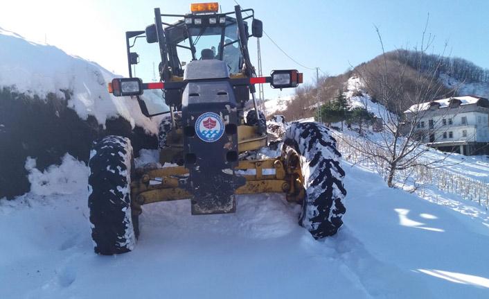 Büyükşehir Belediyesi kar mesaisinde