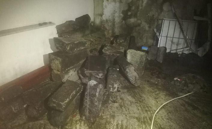 Trabzon'da çalınan çeşmenin taşları bulundu