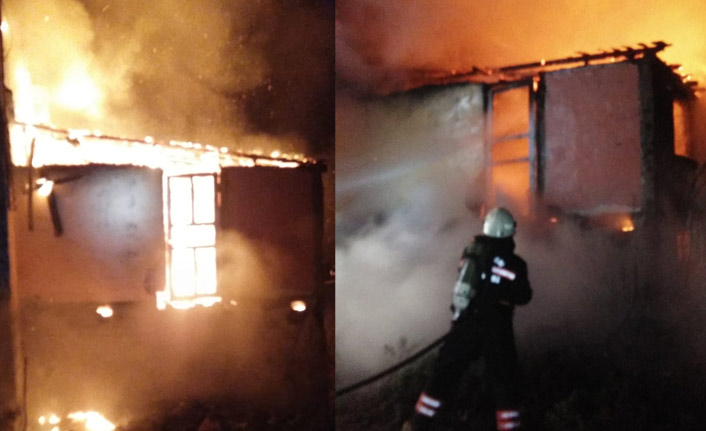 Trabzon'da ev yangını! Alevler bir anda yükseldi