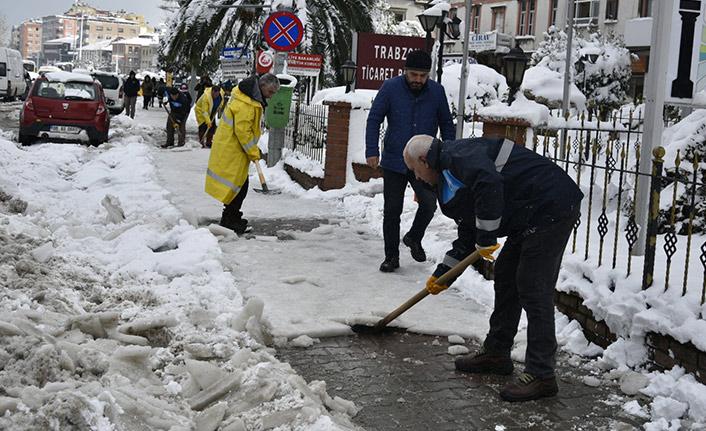 İşte Trabzon'un merkez ilçesinin kar bilançosu
