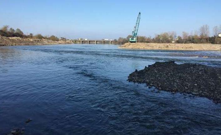 DSİ'nin Ordu'da Melet Irmağı'ndaki çalışmaları devam ediyor