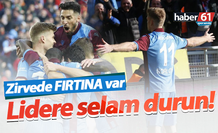 Trabzonspor Sivas'ı devirdi, liderliği aldı