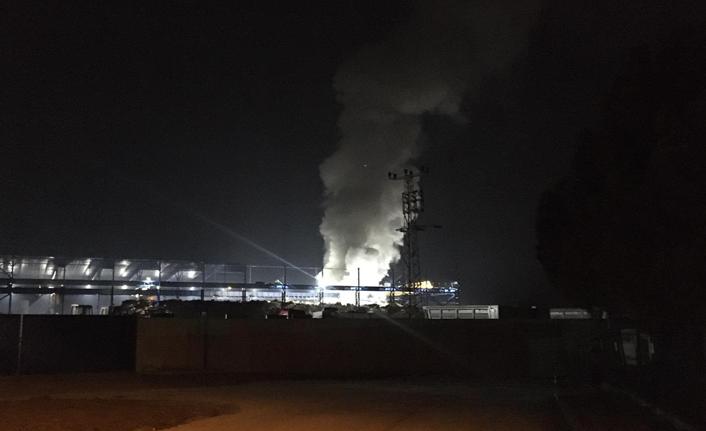 Bartın'da fabrika deposunda yangın