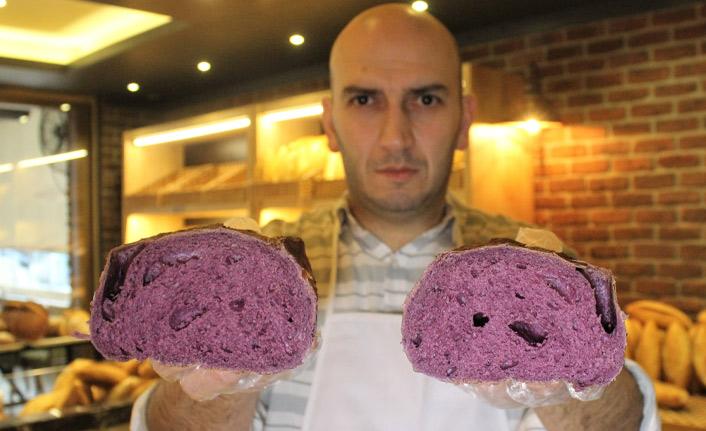 Mor ekmek üretildi