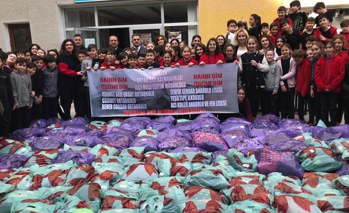 Ortahisarlı öğrencilerden depremzede öğrencilere yardım eli