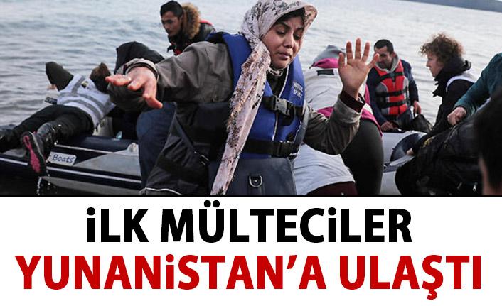 Mülteciler Yunanistan'a ulaştı