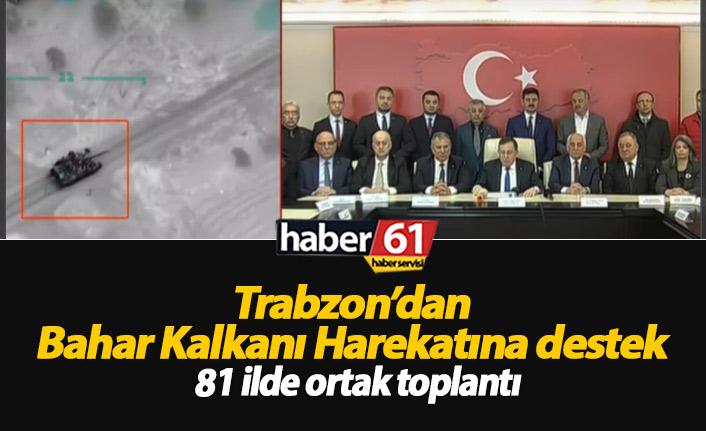 Trabzon'dan Bahar Kalkanı Harekatına destek