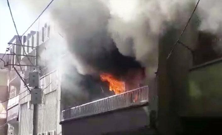 Şanlıurfa'da ev yangını