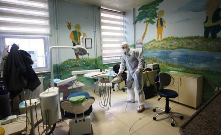 Bayburt'ta kamu kurumları dezenfekte edildi