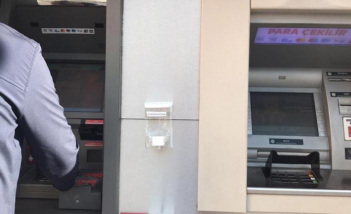 Rize'de ATM'lerde Koronavirüs önlemi