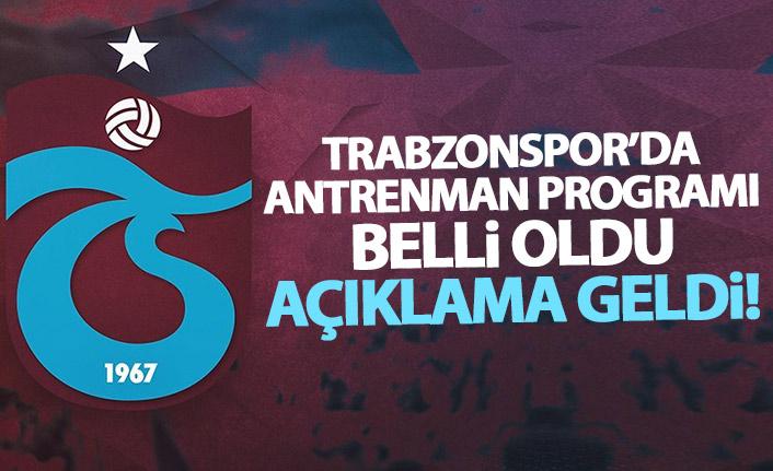 Trabzonspor'da futbolcuların antrenman programı belli oldu