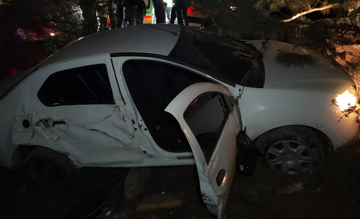 Otomobil ağaca çarpıp şarampole uçtu: 1 ölü 3 yaralı