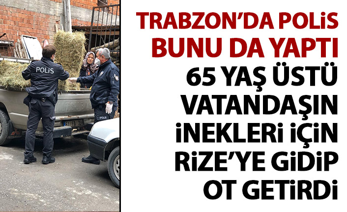 Polis 65 yaş üstü vatandaşın inekleri için ot getirdi