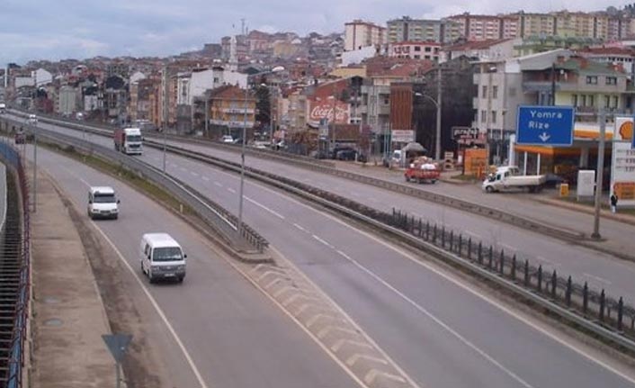 Trabzon - Rize yolunda çalışma