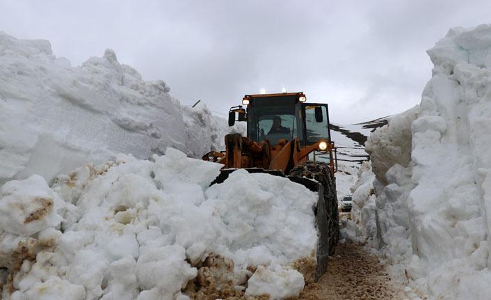 Gümüşhane'de karla mücadele devam ediyor