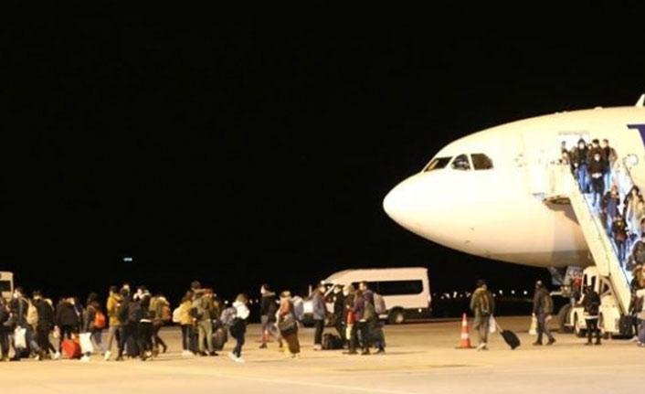 Yurt dışından gelen 159 kişi yurda yerleştirildi