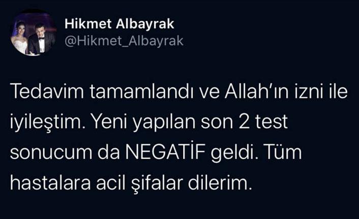 Abdürrahim Albayrak'ın oğlu koronavirüsü yendi
