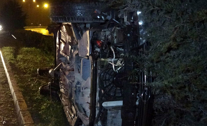 Samsun'da kaza: Araç takla attı