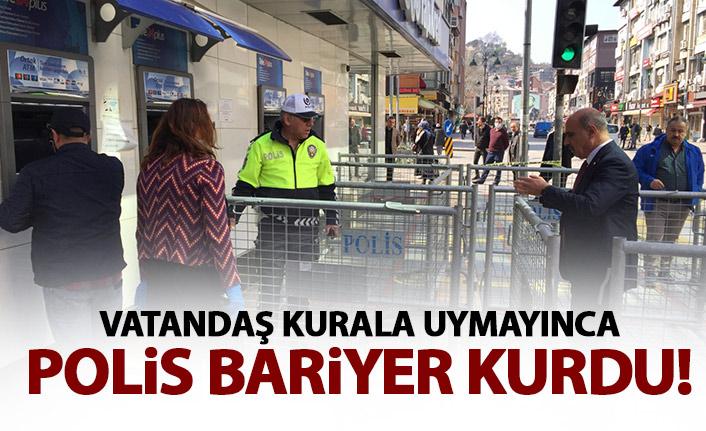 Banka önlerinde bariyerli önlem!