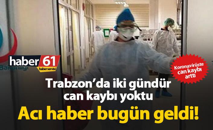 Trabzon'da koronavirüsten bir ölüm daha!