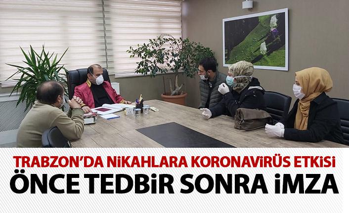 Trabzon'da nikahlara koronavirüs önlemi