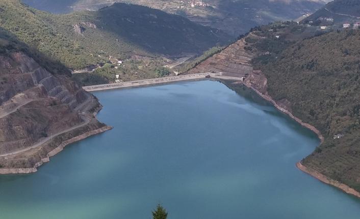 Trabzon'un içme suyunu karşılayan Atasu Barajı'nda son durum